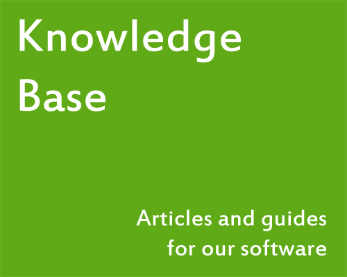 Knowledge Base - Articles and guides for our software