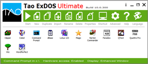 Tao ExDOS Standard main window